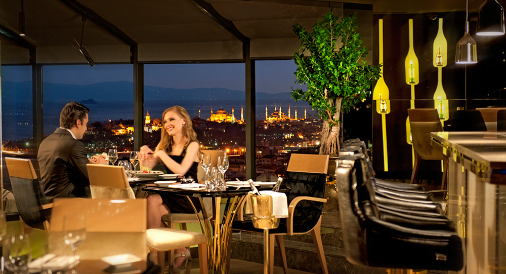 city lights restaurant bar city lights restaurant bar intercontinental stanbul. Black Bedroom Furniture Sets. Home Design Ideas